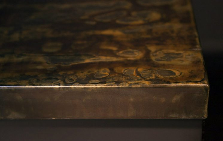 Brandner Design Formed Steel with Patina Countertop