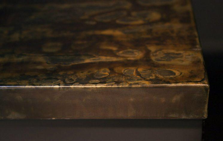 Brandner Design Formed Steel with Patina Countertop