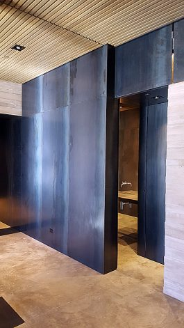 Brandner Design Mountain Industrial Blackened Hot Rolled Steel Wall Panels