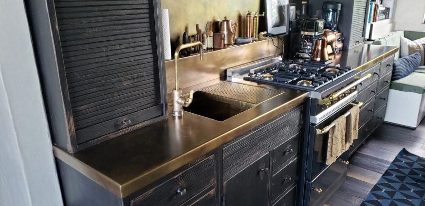 Formed Brass Countertop
