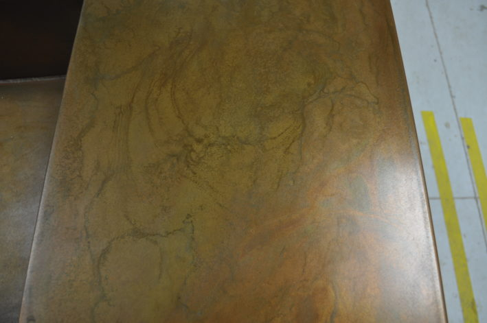 Formed Copper Countertop
