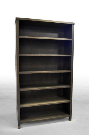 Brandner Design Bronze Banded Bookcase