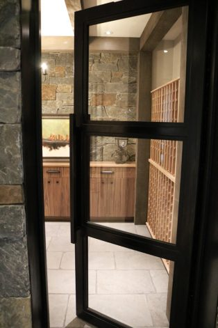 Brandner Design Lone Peak Wine Room Door