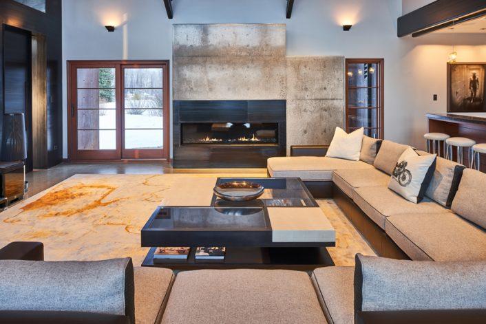 Brandner Design Rockcress Guest House Fireplace