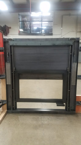 Glass Guillotine Fireplace Door
