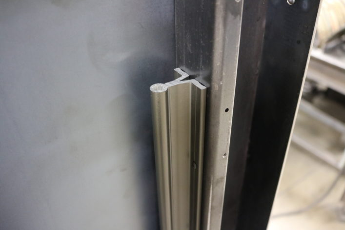 Guillotine Fireplace Door Slide Rail