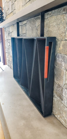 Brandner Design Fireplace w/ Leather