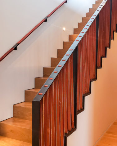 Brandner Design Leather Railing