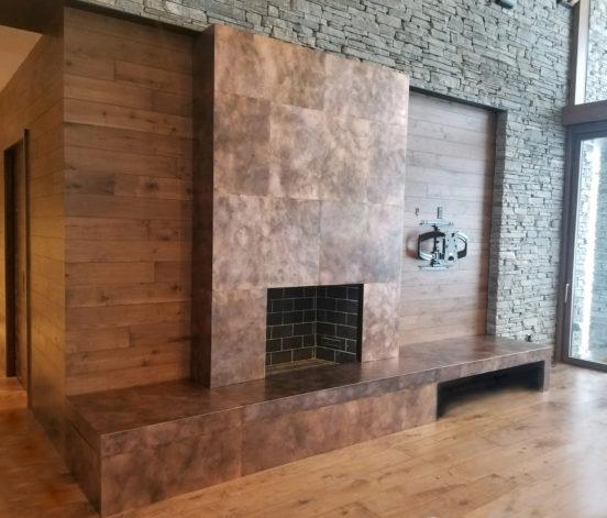 Brandner Design Copper Z-Clipped Wall Panels