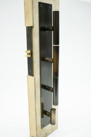 Bronze T-Handle Door Set