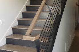 Blackened Steel Risers & Railing