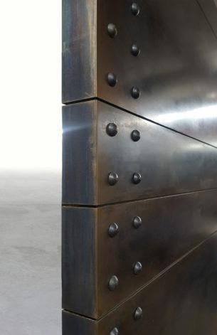 Modern Riveted Industrial Door