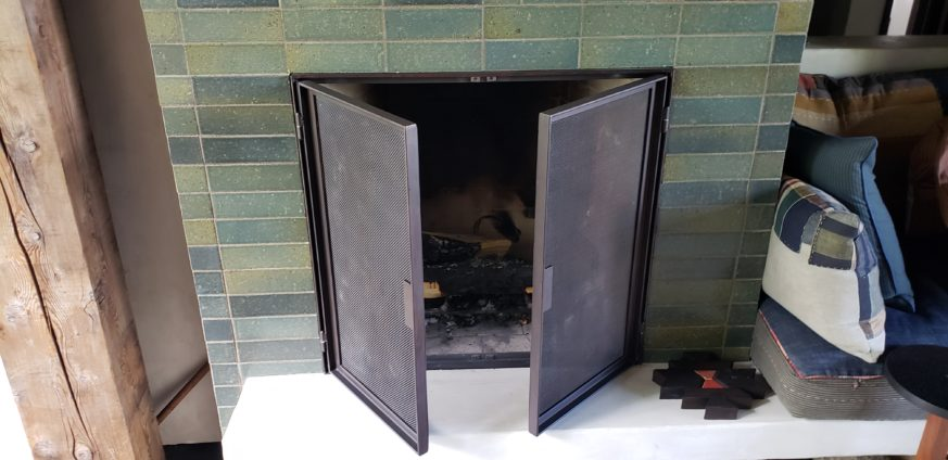 Spring Valley Fireplace Door