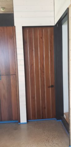 Ross Peak Pinstripe modern Pocket Doors
