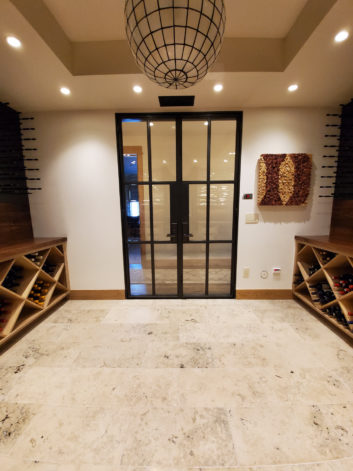 Eagle View Wine Room French Doors