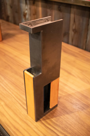 Pocket Door Pull w/ leather