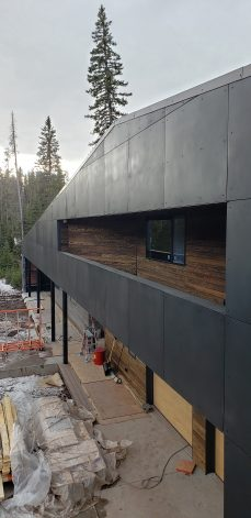 ross peak siding rainscreen metal panels