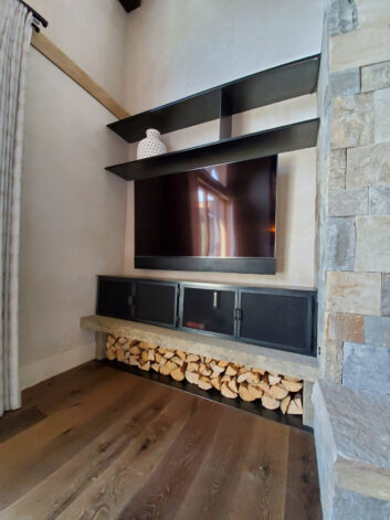 Eagle View Fireplace Shelves Cabinets
