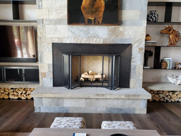 Eagle Veiew Fireplace Doors Surround