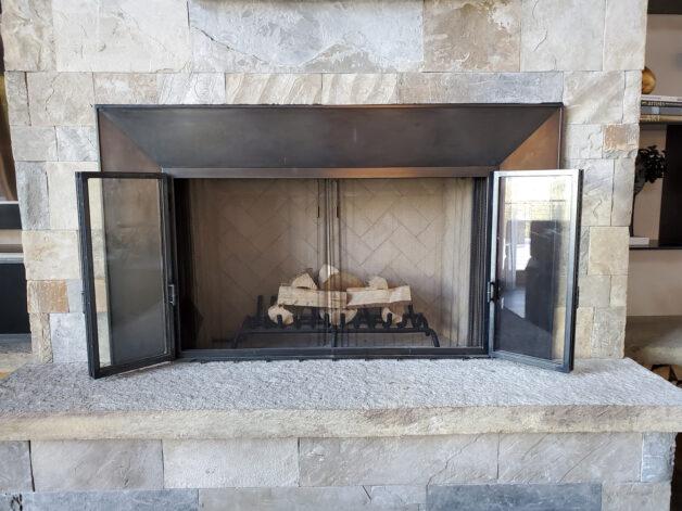 Eagle Veiew Fireplace Doors Surround
