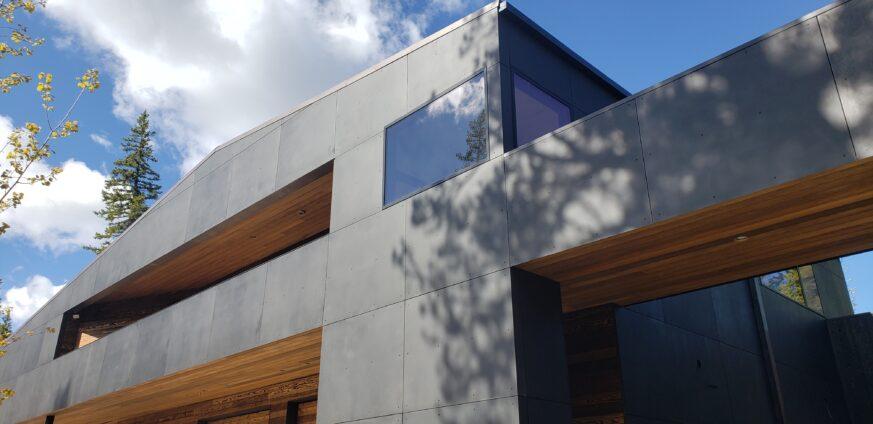 Ross Peak Metal Panel Siding System Sandblasted Black Stainless Steel