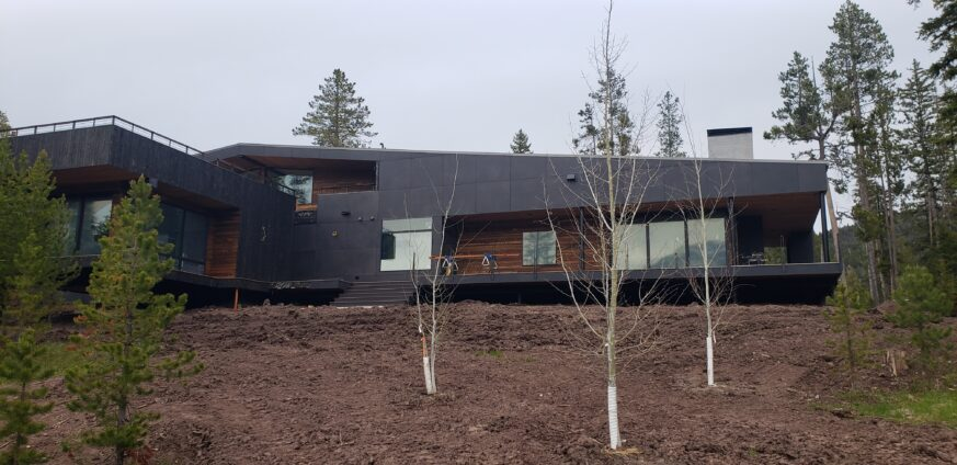 Ross Peak Metal Panel Siding System Sandblasted Black Stainless Steel