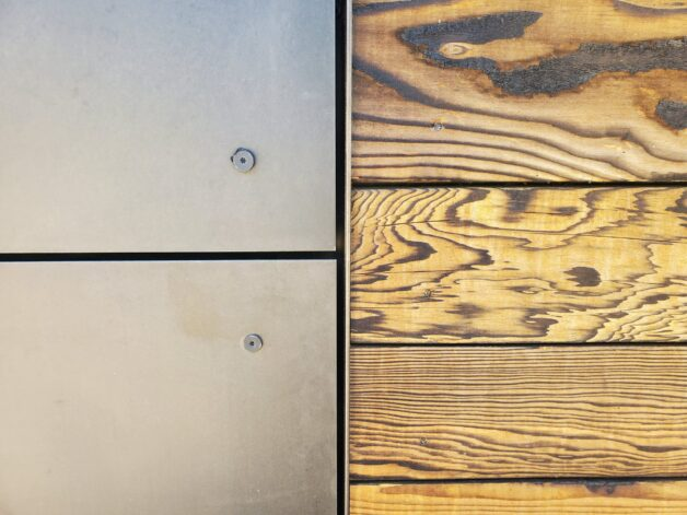 Metal to Wood Flat Wall Transition Detail