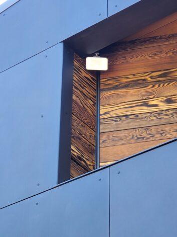 Window Opening Buck formed metal outside corner blackened stainless steel