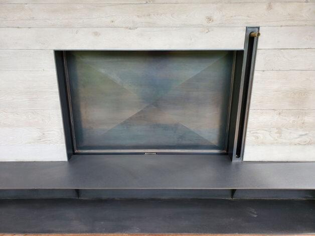 Ross Peak Guillotine Double Fireplace Door