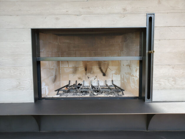 Ross Peak Guillotine Double Fireplace Door