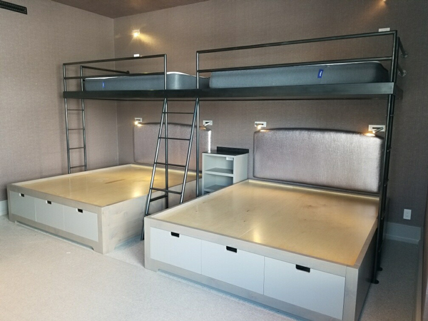 Contemporary L Shaped Double Bunk Beds Brandner Design