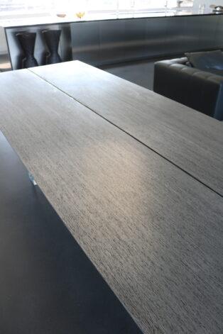 aluminized mahogany table