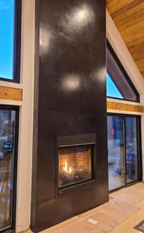 Random Black Veil Fireplace Surround