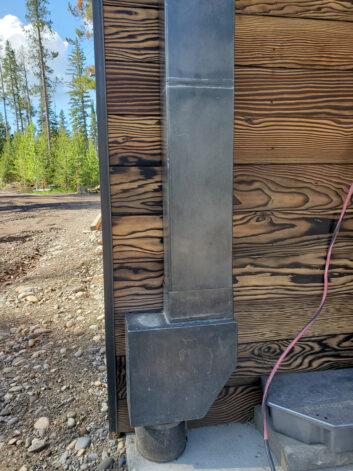 Ross Peak Blackened Stainless Steel Gutter