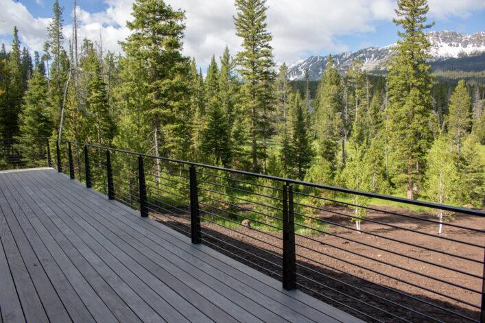 modern blackened stainless steel railing