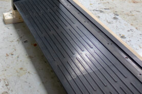 Blackened Stainless Steel Threshold